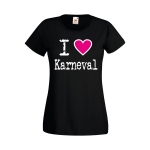 I Love Karneval T-Shirt Damen
