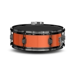 Lefima Marching Snare Drum UltraLeicht Holz orange / schwarz