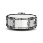 Lefima Marching Snare Drum UltraLeicht Holz weiss / chrom